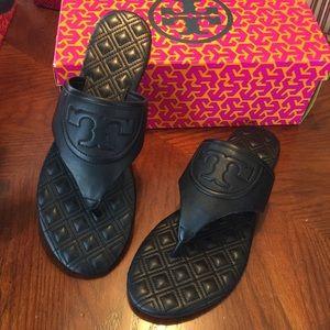 52f4c20b3 Tory Burch Shoes - NIB Tory Burch Fleming Black Flat Thong Sandal